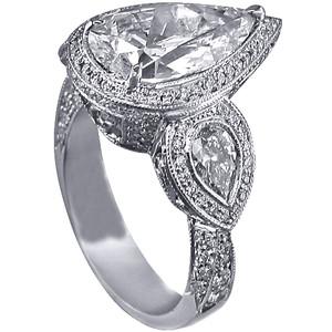 2. Large Stone Pear Shaped Ring
