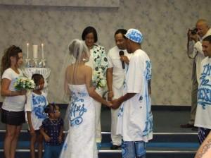 2. Words on the Wedding Dress