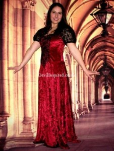 3. Red Lace Victorian Style