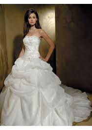 3. Strapless Wedding Dress