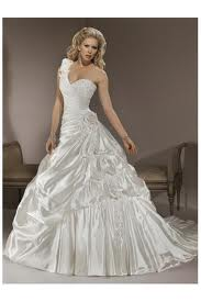 4. One Shoulder Wedding Dress