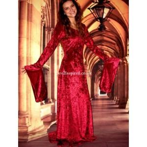 4. Red Velvet Gothic Style