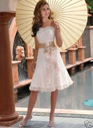 4. Short Lace Summer Wedding Dress