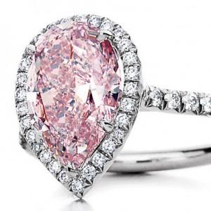 5. Pink Diamond Pear Shaped Ring