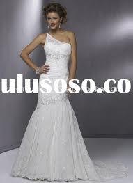 6. One Shoulder Lace Wedding Dress for Spring