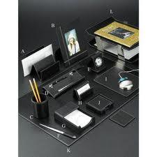 7. Leather Desk Set