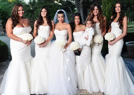 8.  White Bridesmaid Dresses for Fall Weddings