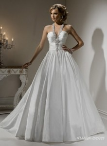 9. Halter Ball Gown