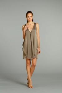 9. Simply Short Bridesmaid Dresses in Gray