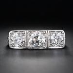 1. Three Stone Edwardian Engagement Ring