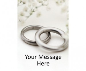 2. Personalized Wedding Band Seed Packet