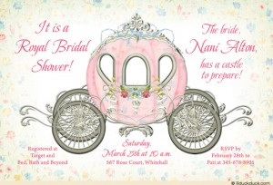 7. Princess Theme Invitations