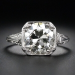 9. Square Cut Diamond Ring