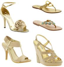 Top Ten Gold Wedding Shoes to Sparkle Under Your Dress
