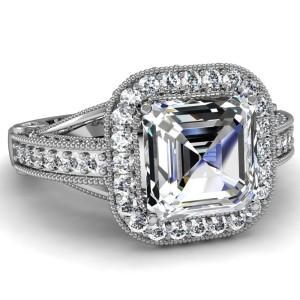 Asscher-Cut-Halo-Diamond-Engagement-Ring