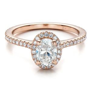 Custom-Rose-Gold-and-Diamond-Halo-Engagement-Ring-flat-100741