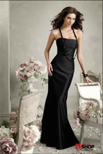 Floor-length-Empire-waist-Strapless-Mermaid--Trumpet-Black-Bridesmaid-Dress-At-a-Low-Price-model-20127970