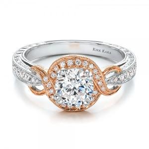 Rose-Gold-and-Diamond-Halo-Engagement-Ring-Kirk-Kara-flat-100715