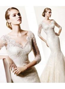 Simple-Lace-Long-Sleeve-Wedding-Dresses-2012