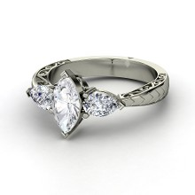 marquise-whitesapphire-14k-white-gold-ring-with-diamond