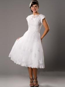 tea_length_square_chiffon_wedding_dresses