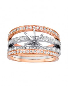 rose gold engagement rings