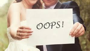 Pre-wedding mistakes