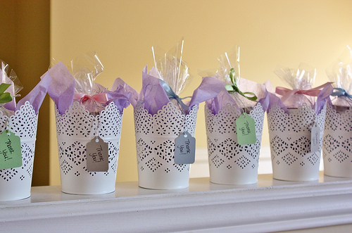 homemade bridal shower favors