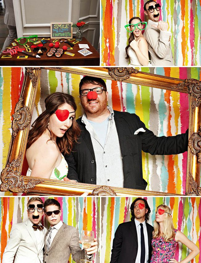 colorful photobooth props bestbride101